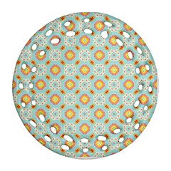 Cute Seamless Tile Pattern Gifts Ornament (round Filigree)  by creativemom