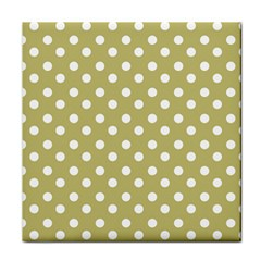 Lime Green Polka Dots Face Towel by creativemom