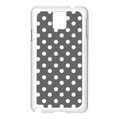 Gray Polka Dots Samsung Galaxy Note 3 N9005 Case (white) by creativemom