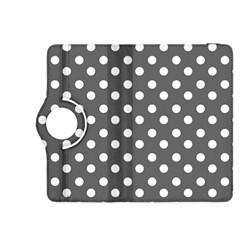 Gray Polka Dots Kindle Fire Hdx 8 9  Flip 360 Case by creativemom
