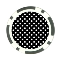 Black And White Polka Dots Poker Chip Card Guards by creativemom