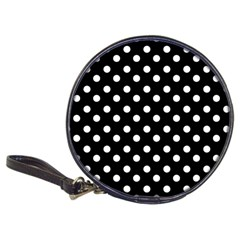 Black And White Polka Dots Classic 20-CD Wallets by creativemom