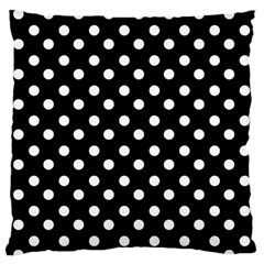 Black And White Polka Dots Standard Flano Cushion Cases (Two Sides)  by creativemom