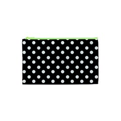 Black And White Polka Dots Cosmetic Bag (xs) by creativemom