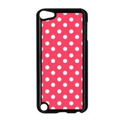 Hot Pink Polka Dots Apple Ipod Touch 5 Case (black) by creativemom
