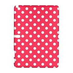 Hot Pink Polka Dots Samsung Galaxy Note 10 1 (p600) Hardshell Case by creativemom
