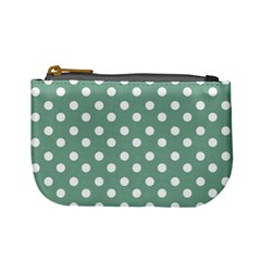 Mint Green Polka Dots Mini Coin Purses by creativemom