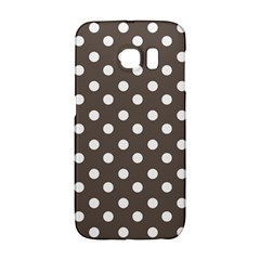 Brown And White Polka Dots Galaxy S6 Edge by creativemom