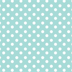 Blue And White Polka Dots Magic Photo Cubes by creativemom