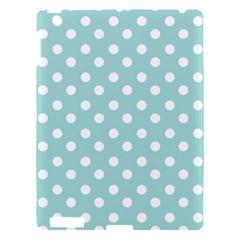 Blue And White Polka Dots Apple Ipad 3/4 Hardshell Case by creativemom