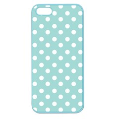 Blue And White Polka Dots Apple Seamless Iphone 5 Case (color) by creativemom