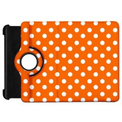Orange And White Polka Dots Kindle Fire Hd Flip 360 Case by creativemom