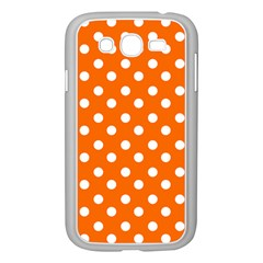 Orange And White Polka Dots Samsung Galaxy Grand Duos I9082 Case (white) by creativemom