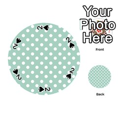 Light Blue And White Polka Dots Playing Cards 54 (round)
