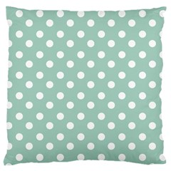 Light Blue And White Polka Dots Large Cushion Cases (two Sides)  by creativemom