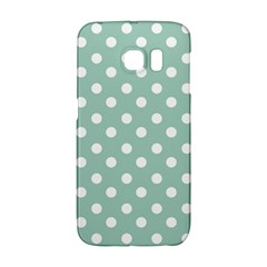 Light Blue And White Polka Dots Galaxy S6 Edge by creativemom