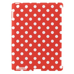 Indian Red Polka Dots Apple iPad 3/4 Hardshell Case (Compatible with Smart Cover) by creativemom