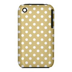 Mint Polka And White Polka Dots Apple Iphone 3g/3gs Hardshell Case (pc+silicone) by creativemom