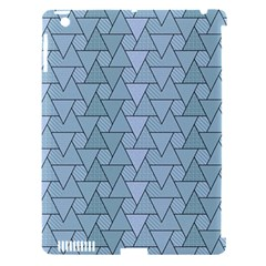 Geo Fun 7 Light Blue Apple iPad 3/4 Hardshell Case (Compatible with Smart Cover) by MoreColorsinLife