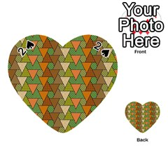Geo Fun 7 Warm Autumn  Playing Cards 54 (heart)  by MoreColorsinLife