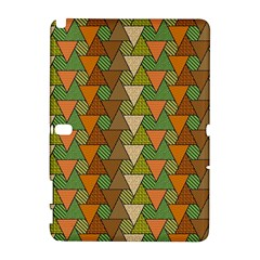 Geo Fun 7 Warm Autumn  Samsung Galaxy Note 10 1 (p600) Hardshell Case by MoreColorsinLife
