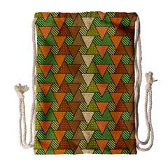 Geo Fun 7 Warm Autumn  Drawstring Bag (large) by MoreColorsinLife