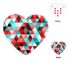 Geo Fun 07 Red Playing Cards (heart)  by MoreColorsinLife