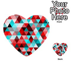 Geo Fun 07 Red Multi Purpose Cards (heart)  by MoreColorsinLife