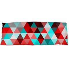 Geo Fun 07 Red Body Pillow Cases (dakimakura)  by MoreColorsinLife