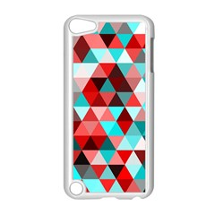 Geo Fun 07 Red Apple iPod Touch 5 Case (White) by MoreColorsinLife