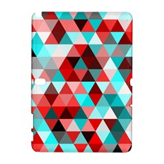 Geo Fun 07 Red Samsung Galaxy Note 10 1 (p600) Hardshell Case by MoreColorsinLife