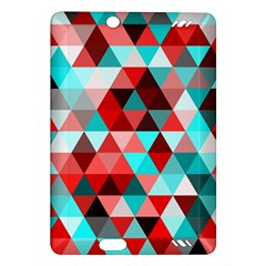 Geo Fun 07 Red Kindle Fire Hd (2013) Hardshell Case by MoreColorsinLife