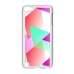 Geometric 03 Pink Apple iPod Touch 5 Case (White) by MoreColorsinLife