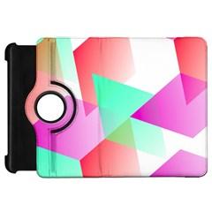 Geometric 03 Pink Kindle Fire Hd Flip 360 Case by MoreColorsinLife