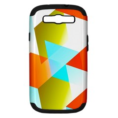 Geometric 03 Orange Samsung Galaxy S Iii Hardshell Case (pc+silicone) by MoreColorsinLife