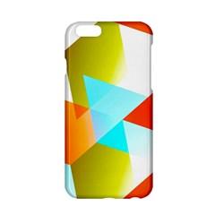 Geometric 03 Orange Apple Iphone 6/6s Hardshell Case by MoreColorsinLife
