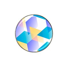 Geometric 03 Blue Hat Clip Ball Marker (10 Pack) by MoreColorsinLife
