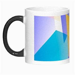 Geometric 03 Blue Morph Mugs by MoreColorsinLife
