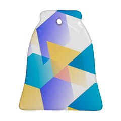 Geometric 03 Blue Ornament (bell)  by MoreColorsinLife