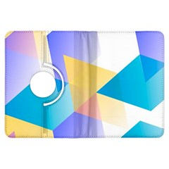 Geometric 03 Blue Kindle Fire Hdx Flip 360 Case by MoreColorsinLife