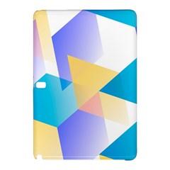 Geometric 03 Blue Samsung Galaxy Tab Pro 10 1 Hardshell Case by MoreColorsinLife