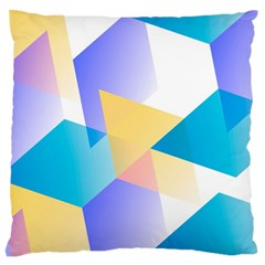 Geometric 03 Blue Standard Flano Cushion Cases (one Side)  by MoreColorsinLife
