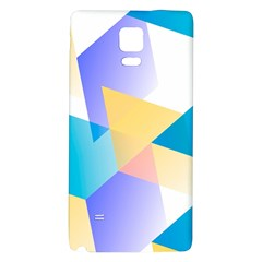 Geometric 03 Blue Galaxy Note 4 Back Case by MoreColorsinLife