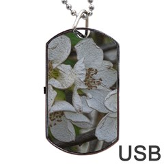 Amazing Garden Flowers 32 Dog Tag USB Flash (Two Sides)  by MoreColorsinLife