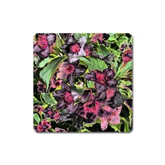 Amazing Garden Flowers 33 Square Magnet by MoreColorsinLife
