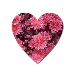Awesome Flowers Red Heart Magnet by MoreColorsinLife