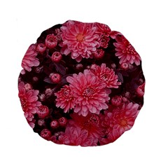 Awesome Flowers Red Standard 15  Premium Round Cushions by MoreColorsinLife
