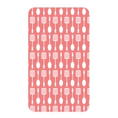 Coral And White Kitchen Utensils Pattern Memory Card Reader by creativemom