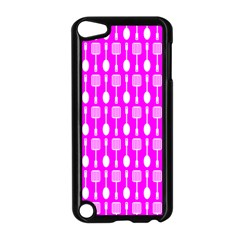 Purple Spatula Spoon Pattern Apple Ipod Touch 5 Case (black) by creativemom