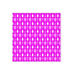 Purple Spatula Spoon Pattern Satin Bandana Scarf